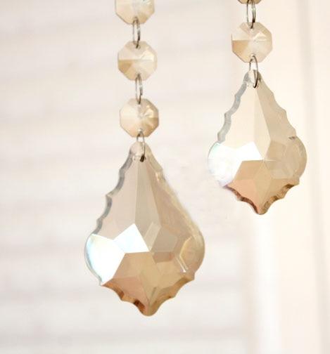 Free Shipping 100pcs 22*82MM Optical Cognac Crystal Hanging Prism Ornament Suncatchers, Crystal Curtain Pendants