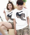 Sweethearts outfit pure cotton qualitative short sleeve shorts pajamas cute leopard printed leisurewear suit for summer