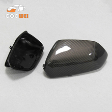 1 Pair car accessories full replacement  carbon fiber Rearview mirror caps cover for VW Polo 2006 2007 2008 2009