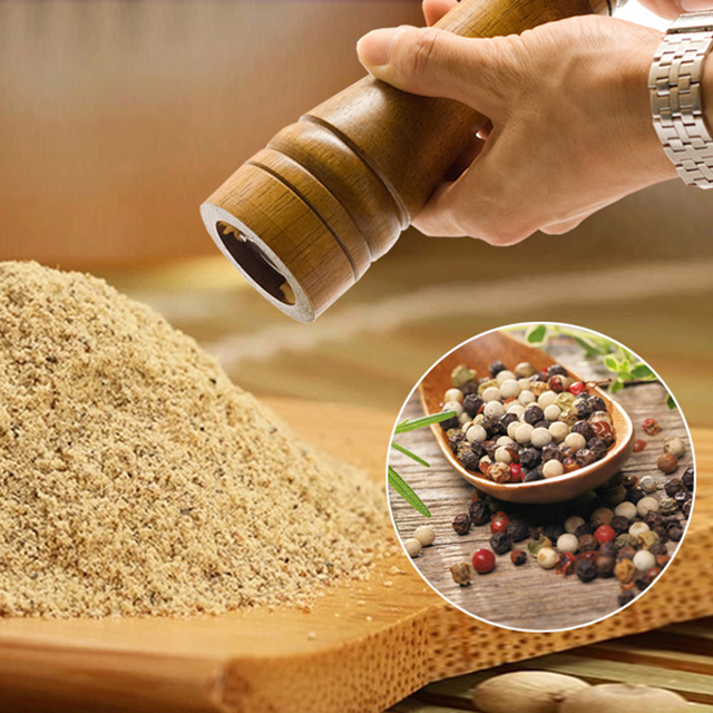 Manual Oak Pepper Grinder Kitchen Accessories Spice Mill Instruments  Ferramentas Mill For Pepper And Salt Powder