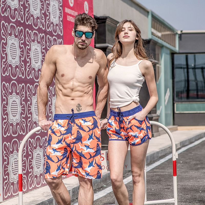 Oioninos 2019 New Summer Man/lovers Beach Short Pants Quick Drying Print Shorts Casual Fashion Board Shorts For Couples C1 Men's Clothing