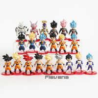 Dragon Ball Z Super Saiyan Goku Gohan Vegeta Vegetto Syn Shenron el gran freezer Janemba Mini PVC figuras juguetes 21 unids/set