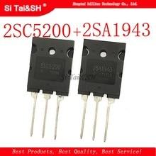 8 pçs/lote 4pcs A1943 + 4pcs C5200 2SA1943 2SC5200 TO-3P par tubo amplificador original novo