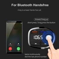 fm משדר רכב Bluetooth FM משדר אלחוטי Hands Free Kit MP3 מוסיקה נגן תמיכה TF כרטיס 5V 2.1a USB מטען FM אפנן # WL1 (3)