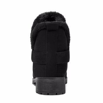 KarinLuna large size 30-48 slip on comfortable women shoes woman winter warm plush woman snow boots warm fur ankle boots women 2