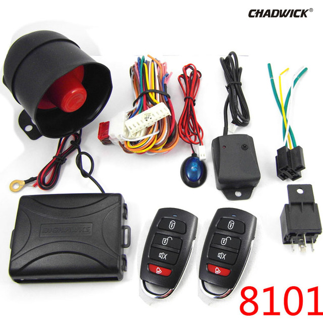 Cheap NEW Universal 1-Way Vehicle Car Alarm System Protection Security Keyless Entry Siren 2 Remote Control Burglar hot 8101 CHADWICK