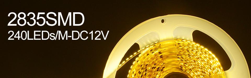 Ultra Bright SMD 2835 LED Strip DC 12V Flexible Waterproof Led Strip High Lumen LED Light Tape Ribbon Lamp 5MRoll 3528 5050 SMD Indoor 01