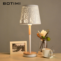 BOTIMI Art Deco Table Lamp With etched Metal Lampshade Bedside Desk lights Hotel Reading Lighting White Book Lamps Luminaria