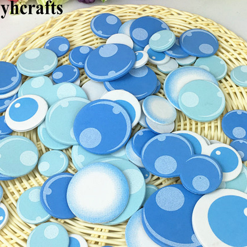 50PCS/LOT,EVA Foam Sea Bubble Without Stickers Kindergarten Crafts Sea World Infauna Pocket Craft Easter Crafts Classic Toys OEM