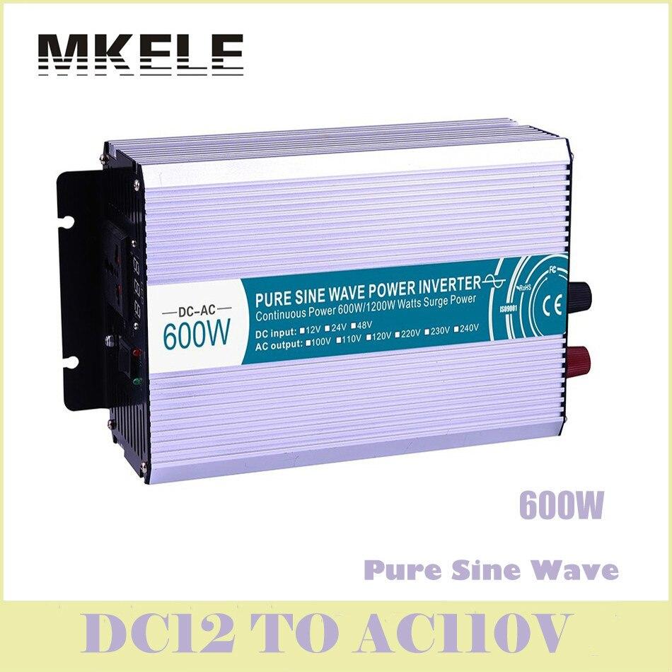 ФОТО MKP600-121 600w Off Grid Pure Sine Wave Power Inverter 12v To 110v Voltage Converter Solar LED Digital Display China
