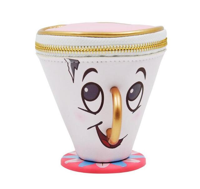 В наличии Красота и чудовище чип Портмоне PU 3D чашки брелок для монет мешок Игрушечные лошадки для Для женщин подарок игрушки