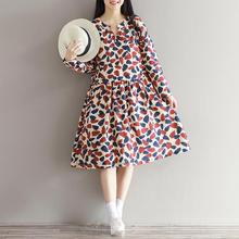 Quality Linen Maternity Dresses Spring Autumn Long Sleeve Clothes for Pregnant Women Clothing for Pregnancy New Fashion B276