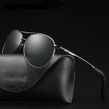 2019 New Sunglasses Men Business Concise Style Polarized Photochromic Pilot Driving Chameleon Change Color UV400
