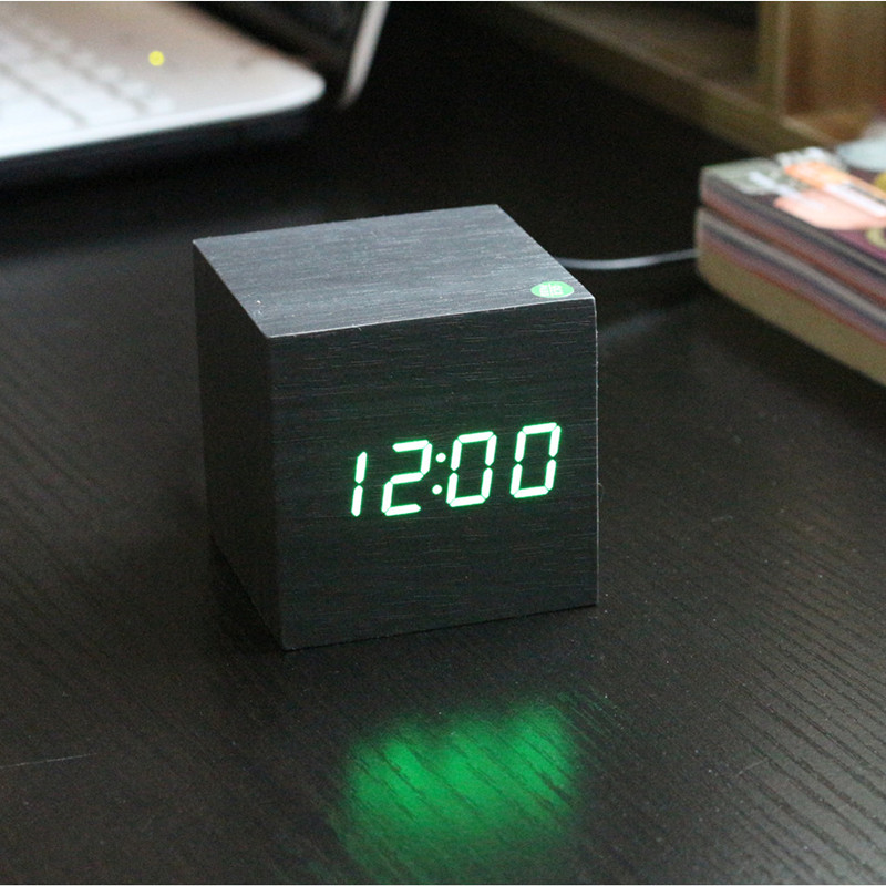 Antique Digital Clock LED Office Clock Vintage Retro Table Personalized Brief Art Clock Silent Watch Electronic Clock Home Decor