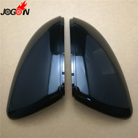 2PCS ABS Car Reaview Mirror Cover Chrome Rear View Side Caps Shell Trim Black For Volkswagen