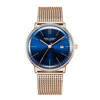 2019 Риф Тигр/RT Элитный бренд простые часы для мужчин ультра тонкие часы автоматический календари синий браслет часы reloj hombre RGA8215