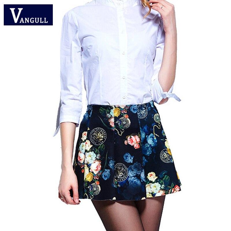 2020 Summer Casual Women Digital Print Skirts Fashion Elastic Waist Elegant Short Skirts Stretchy Flared Pleated Mini Skirts