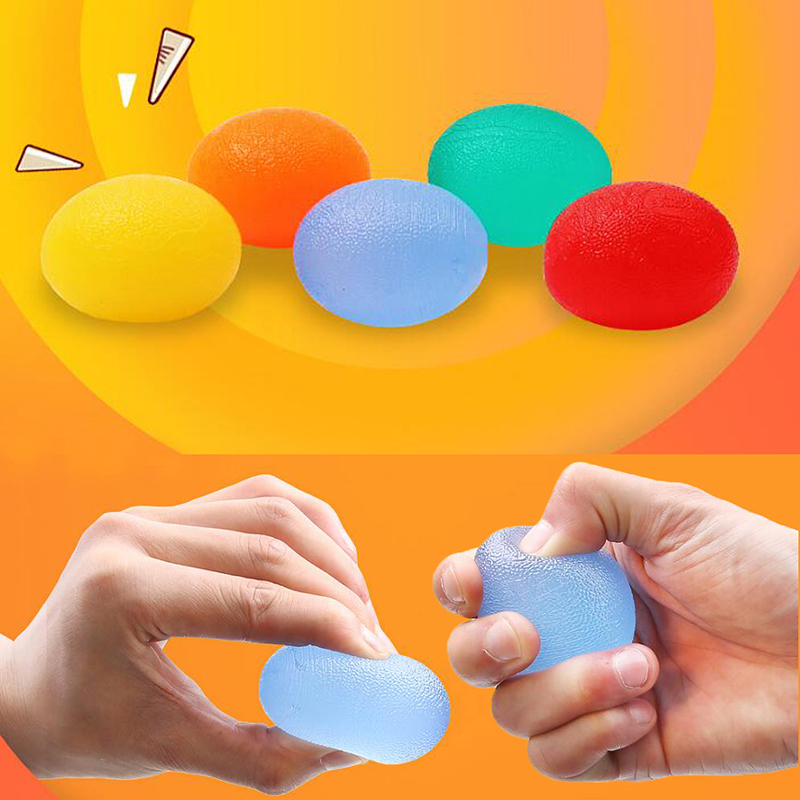Fitness Silicone Egg Hand Expander Gripper Hand Grip Massage Power Ball Forearm Finger Exercise strength Training 5 Colors image