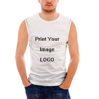 Customized Image LOGO Print Men's Bodybuilding Tank Top Summer Comfortable Sleeveless Casual Tank Tops For Man Muscle Top