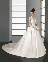 White Wedding Dress Bridal Gown 2016 White V Neck Elegant Kate Middleton Style Luxurious Connotation