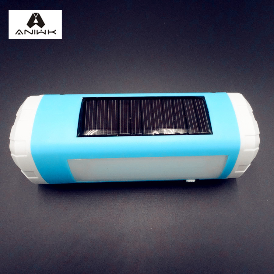 aniwk solar powered wireless bluetooth speaker portable with led flashlight tf card fm. Black Bedroom Furniture Sets. Home Design Ideas