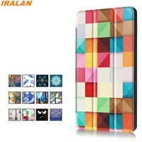 Hot PU Leather Smart Color Print Case For Amazon Kindle New Fire HD 8 2017 Version
