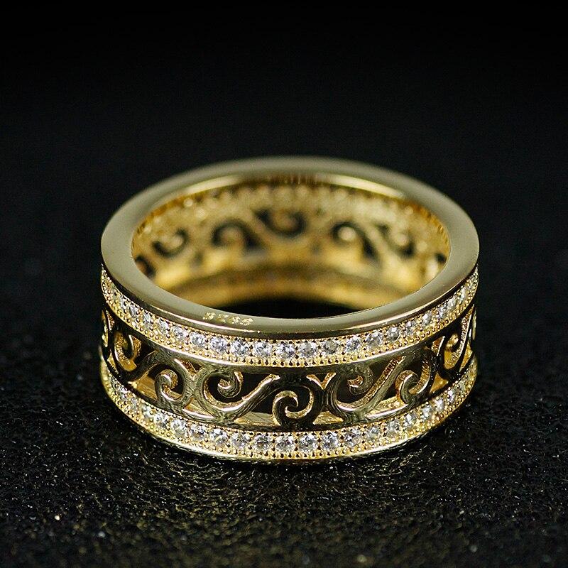 roségold silber farbe 925 sterling silber hochzeit band - Modeschmuck - Foto 6