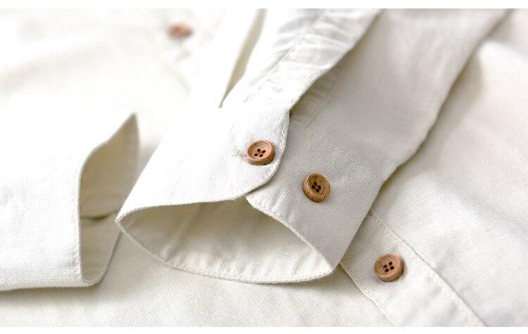 Suehaiwe's Premium Casual Linen Dress Shirt hommes à manches longues - Vêtements pour hommes - Photo 4
