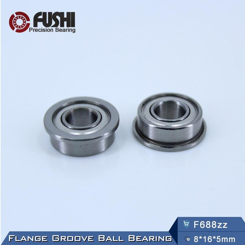F688ZZ Bearing ABEC-5 (10PCS) 8*16*5 mm Flanged F688Z Ball Bearings F688 ZZ F618/8ZZ gcr15 6326 zz or 6326 2rs 130x280x58mm high precision deep groove ball bearings abec 1 p0