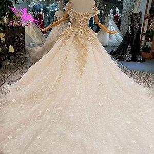 Image 3 - AIJINGYU שנהב שמלת שמלות שנזן בציר 3D יוקרה כלה תחרה מימי הביניים ייחודי שמלת כלה זולה שמלות ליד לי