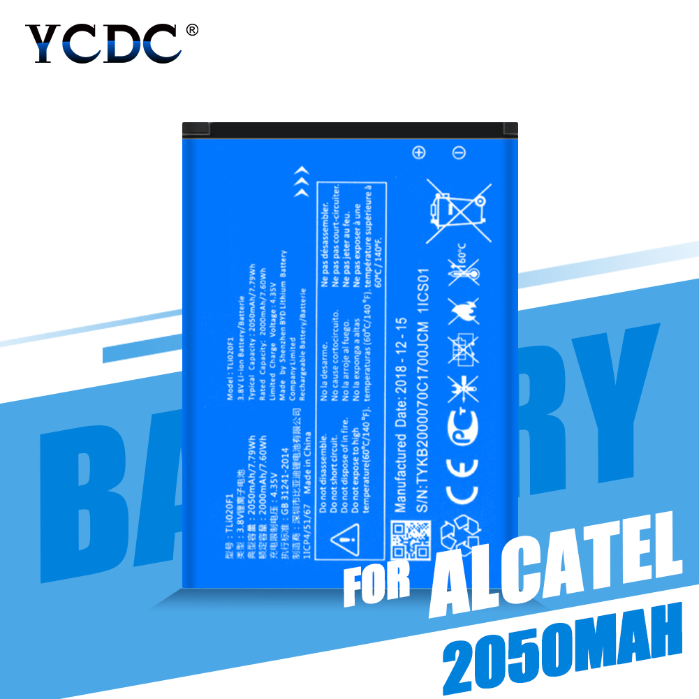TLi020F1 Mobile Phone Replacement Batteries 2050mAh For Alcatel PIXI 4 5045D / One Touch Pop 2 5042D C7 7040 OT-7040 OT-7040D