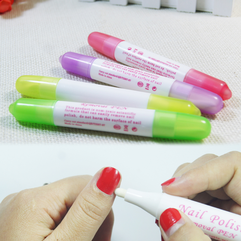 Fulljion 1pc Nail Art Corrector Pen Remove Mistake+3 Tips Nail ...