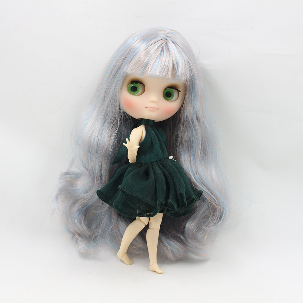 No.6227/2023 Nude middie blyth joint doll 20cm high Transparent face suitable DIY gift for girl like the icy doll middle blyth