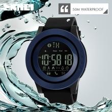 SKMEI Men Women Bluetooth Smart Watch Calorie Pedometer For Apple IOS Android Hours 50M Waterproof Digital Mens Smartwatch Clock