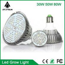 1pcs Full Spectrum LED Grow Light Plants 30W 50W 80W  Powerful Led Grow Lights for Indoor hydroponics Flowering Plants Grow Box
