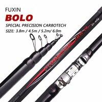 Fuxin 99% Carbon Fiber Fishing Rod Telescopic Spinning Short Sea Rod Travel Lightweight Port Black Fishing Rod 3.8 6m 90cm