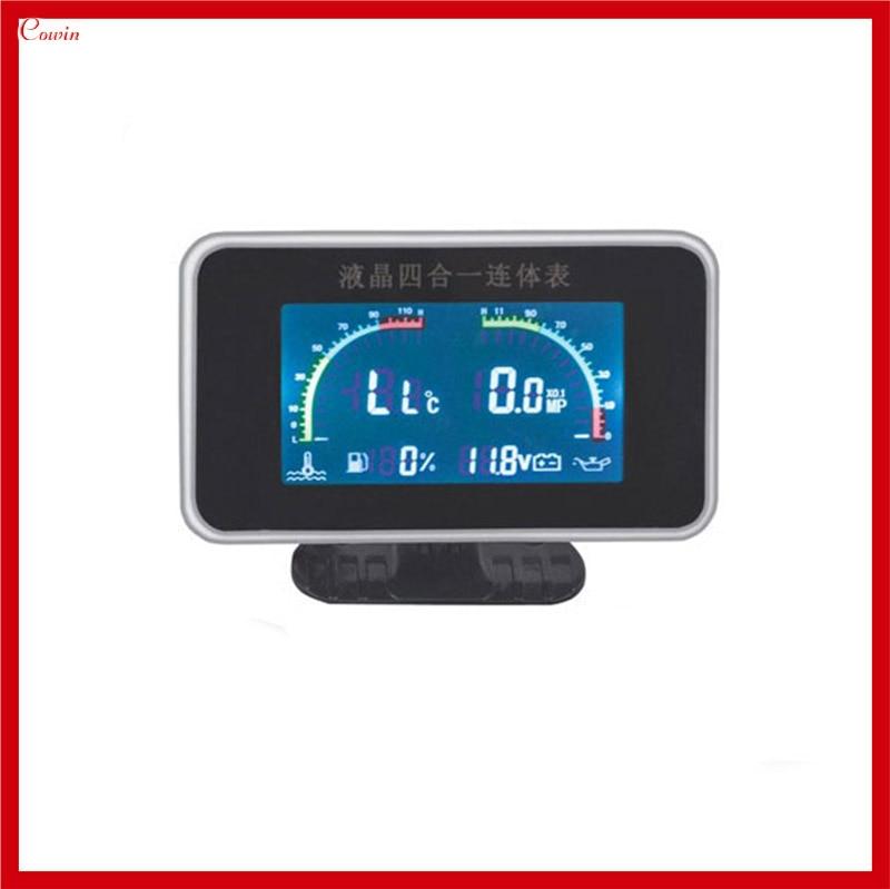 Electronic Voltmeter Gauges Oil And Water : New function v truck car oil pressure gauge
