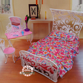 Free Shipping,princess bed Dresser Set doll bedroom for barbie doll,doll furniture doll accessories for barbie,girls play set