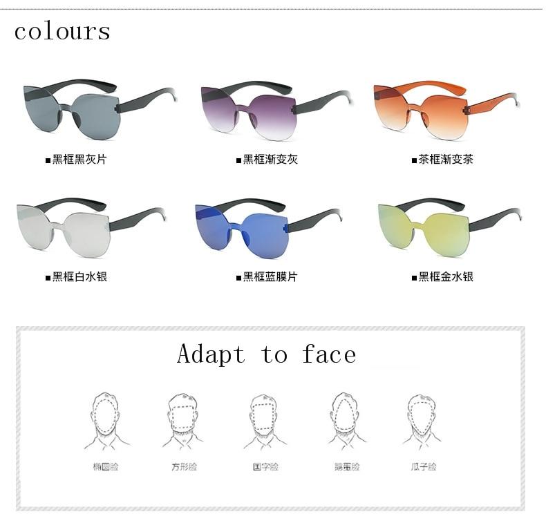 UCOOL 2018 Fashion Square Rimless Sunglasses Women Vintage Brand Designer Coating Sun Glasses UV400 (6)