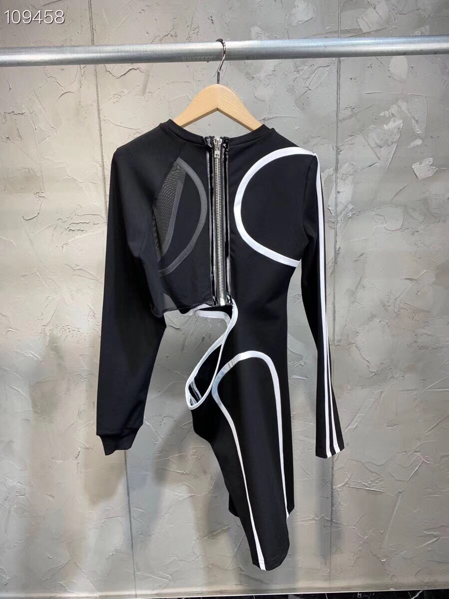 Longues Mini As Pic Évider Femmes Noir Gaine Été Manches Sexy Automne Mince À Robe Transparent 2018 Mode Blanc 1UC6q