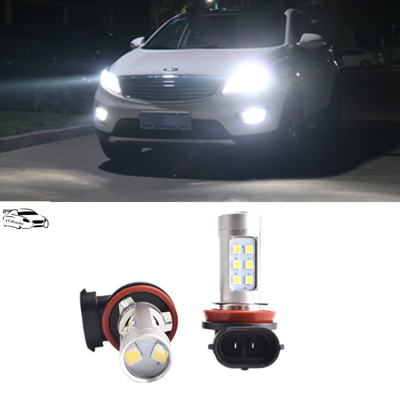 2x H850w Car Led Fog Lights Drl Bulb For For Kia Rio K2