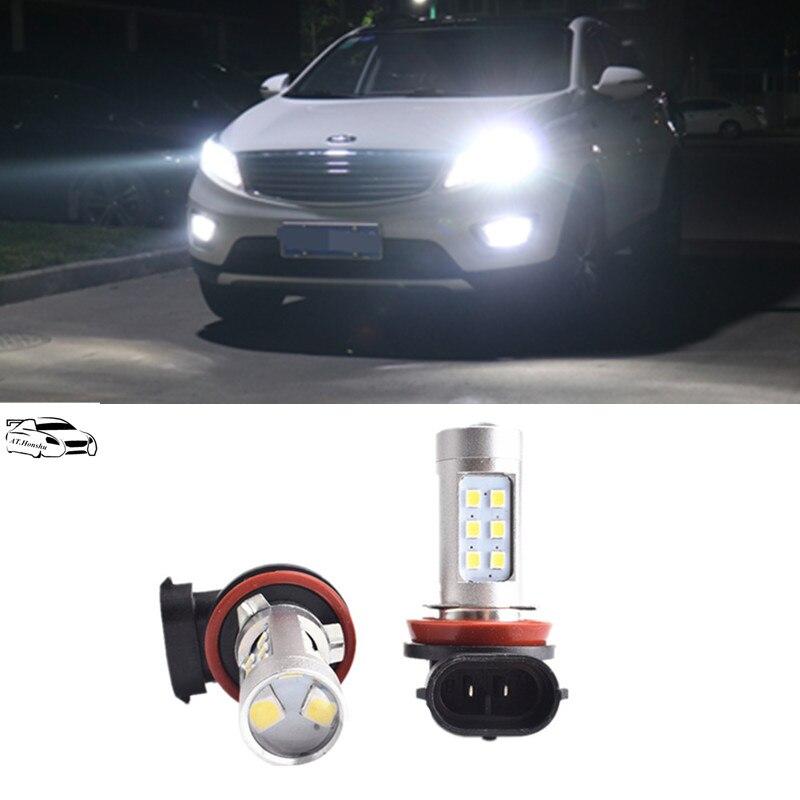 2x H850w Car Led Fog Lights Drl Bulb For For Kia Rio K2