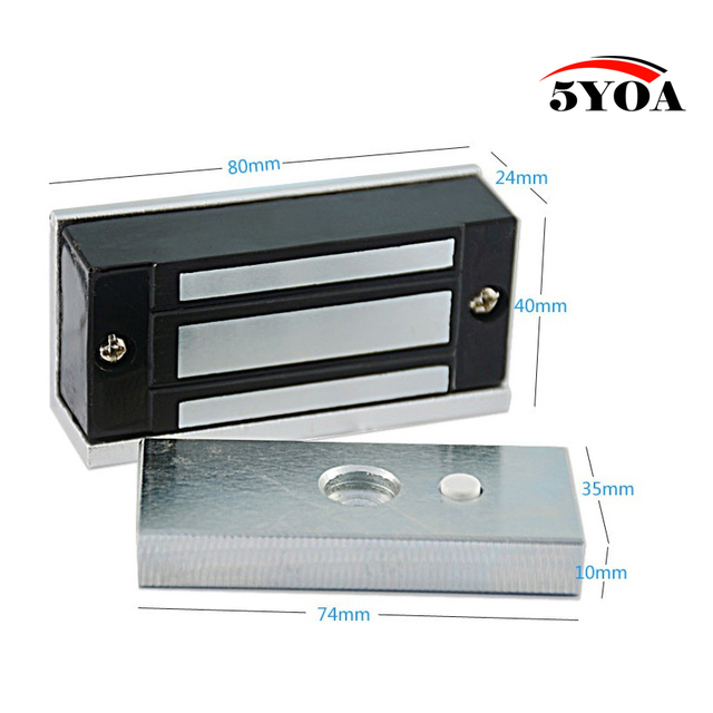 12v Electronic Drawer Lock Electric Magnetic Cabinet Door Locks 60kg 100lbs Holding Force Electromagnetic Mini M60