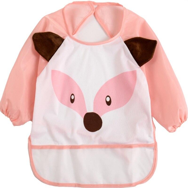 Cartoon Unisex Baby Bibs Printed Long Sleeve Bib Infant Waterproof Apron Clothing 1-3Y RZ