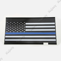 Fit For 2007 2016 Jeep Wrangler Exterior USA Flag Insect Nets Mesh Grille Car Styling Chrome & Blue Car Styling Accessories