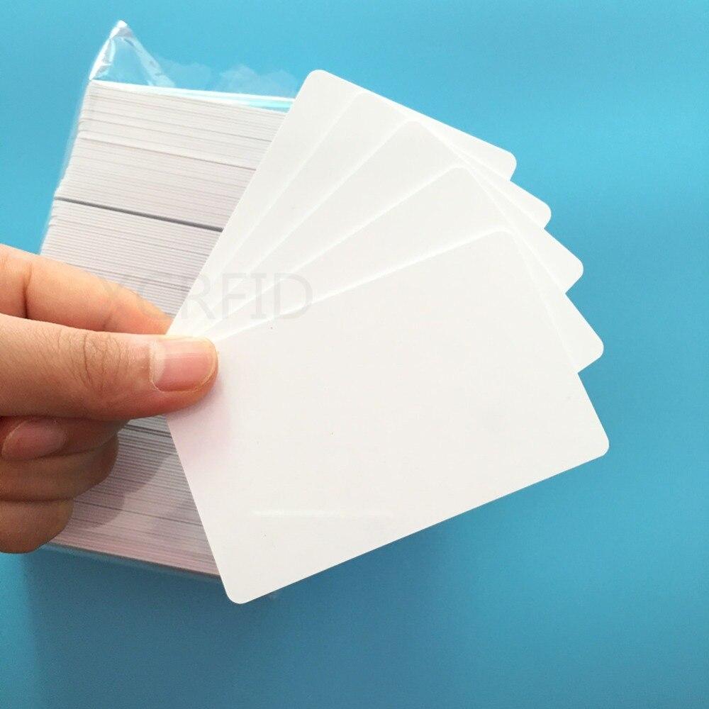 20PCS 125KHZ RFID EM4100 TK4100 Waterproof Inkjet Printable Plastic Blank PVC Card For Inkjet Printers