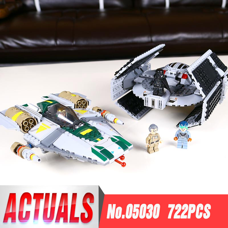 STAR 05030 WARS Vader Tie Advanced VS A-wing Starfighter Compatible with Legoing 75150 Building Blocks Bricks ToysSTAR 05030 WARS Vader Tie Advanced VS A-wing Starfighter Compatible with Legoing 75150 Building Blocks Bricks Toys