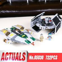 STAR 05030 WARS Vader Tie Advanced VS A-wing Starfighter Compatible with Legoing 75150 Building Blocks Bricks Toys