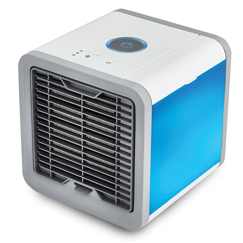 Portable Mini Air Cooler Fan Air Personal Space Cooler Conditioner Humidifier Air Purifier Home Room Office Desk new portable outdoor mini fans with led lamp light table usb fan spray water humidifier personal air cooler conditioner for home