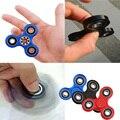 Nueva Negro Tri-Spinner Fidgets Juguete Plástico EDC Sensorial Fidget Spinner Para El Autismo y Niños CON TDAH Adulto Divertido Anti Juguetes estrés